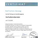 Verhaltensberater Zertifikat